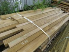 ASSORTED TIMBER POSTS AND FENCING TIMBERS, 2 - 3M LENGTH APPROX.