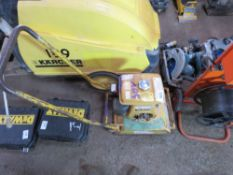 ROBIN PETROL ENGINED COMPACTION PLATE, RECOIL MISSING. NO VAT ON HAMMER PRICE.