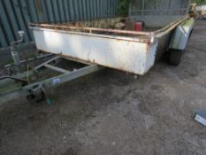 HILINE RANGER TWIN AXLED PLANT TRAILER, 3 TONNE RATED, SN:6063. 6FT X 12FT APPROX. DIRECT FROM LOCA