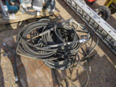 PALLET CONTAINING PRESSURE WASHER HOSES, INCLUDING 2 X LANCES.