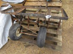 TOWED LAWN CORER UNIT FOR GARDEN TRACTOR, 3FT WIDTH APPROX.