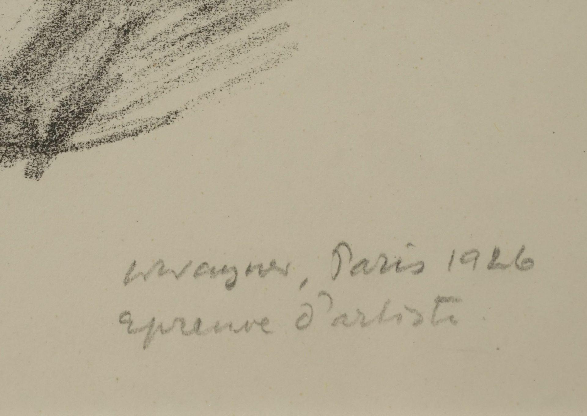 Wilhelm Wagner, Liegender Frauenakt, die Beine nach rechts - Bild 3 aus 3