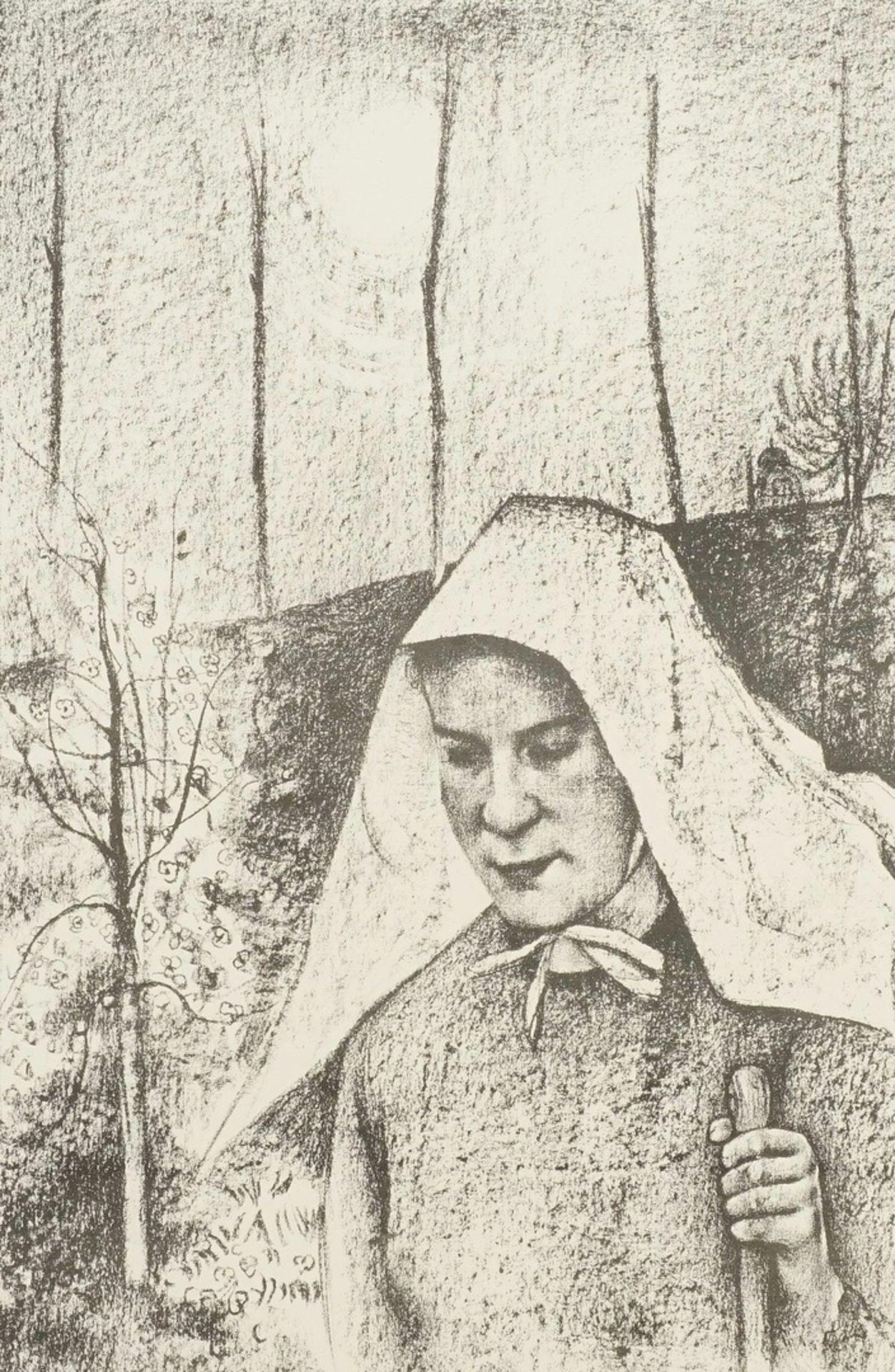 """Wilhelm Schmurr, """"Bäuerin mit Tuch"""""""