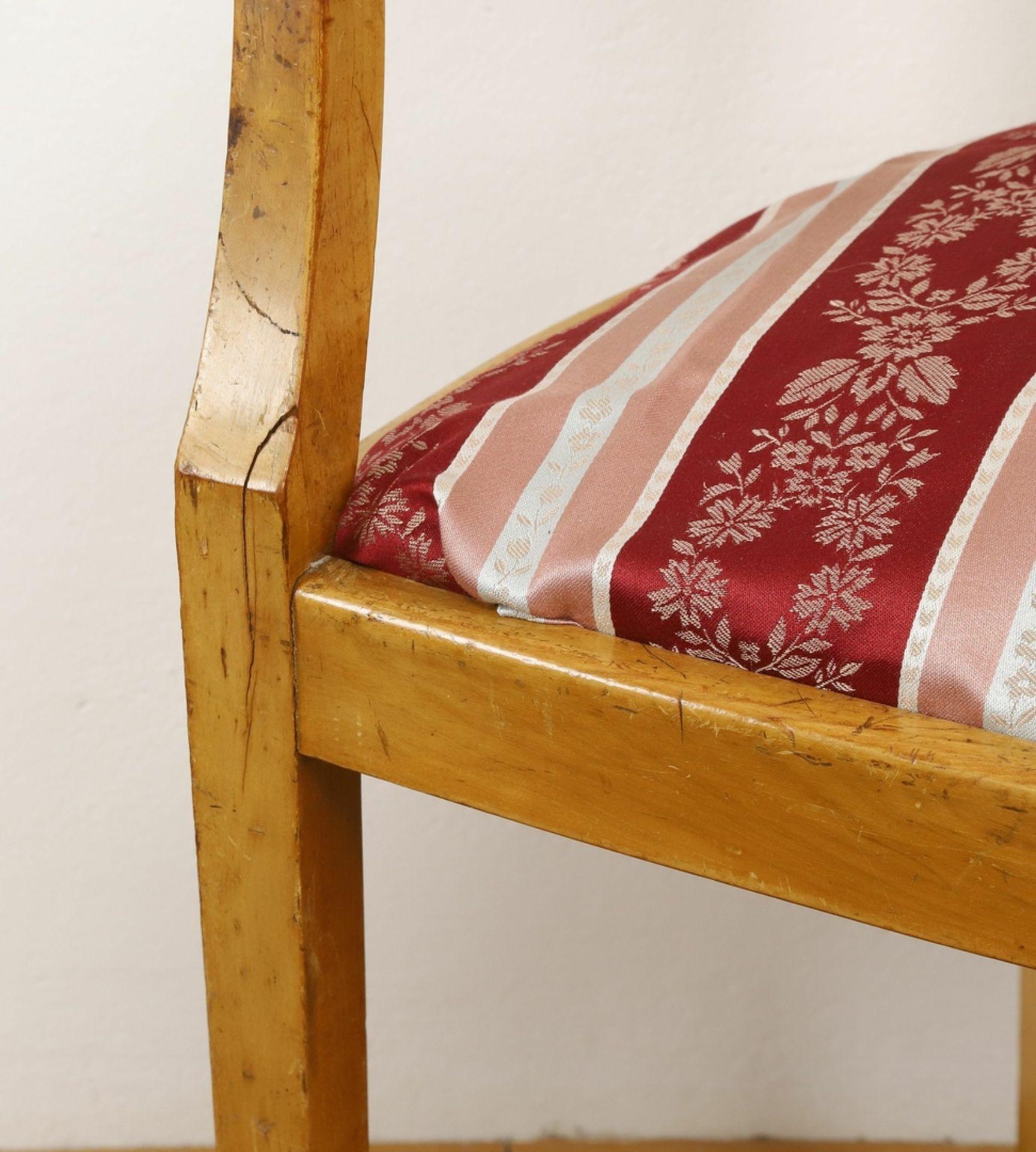 Frisierkommode mit Aufsatzspiegel und Stuhl - Bild 8 aus 8