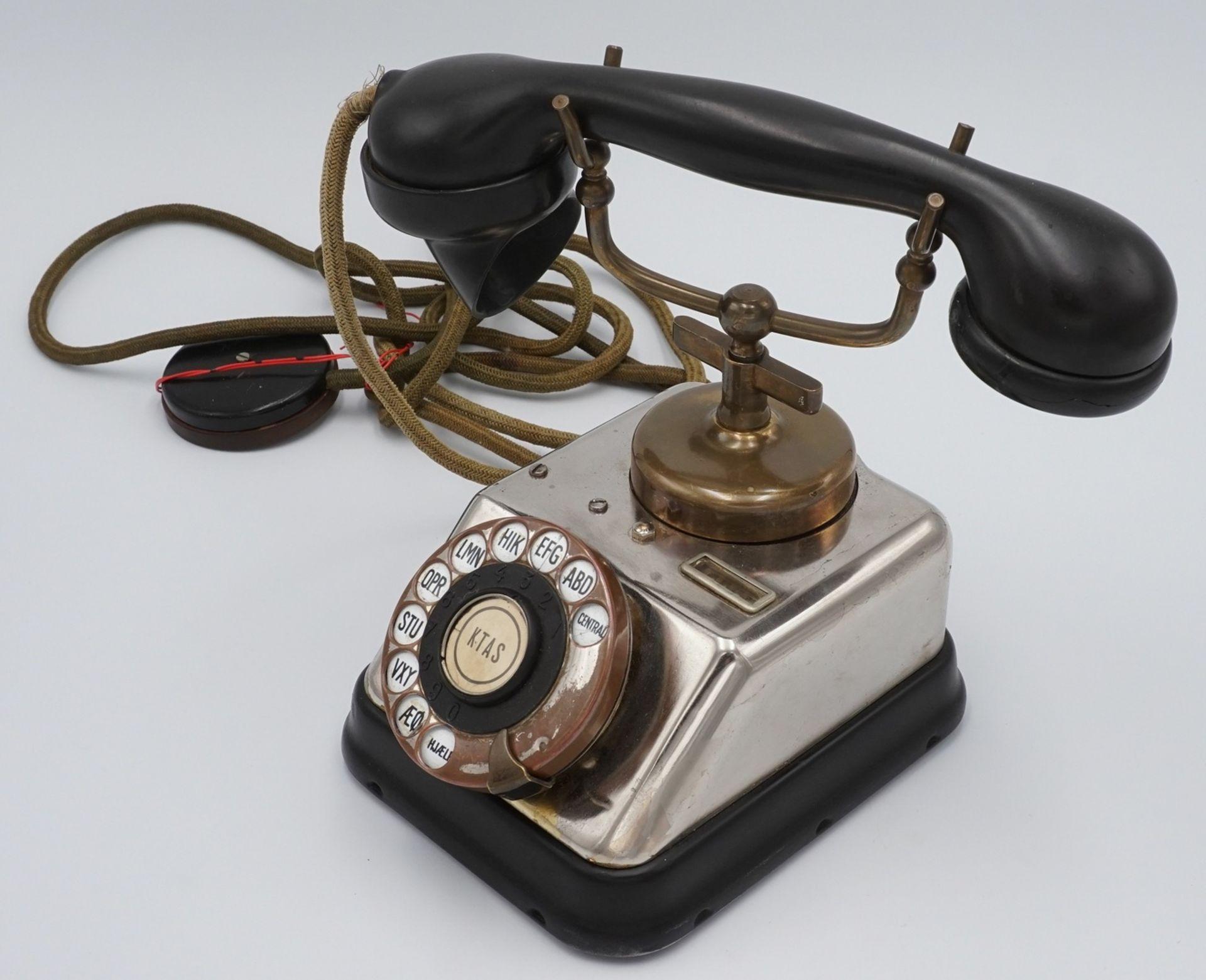 KTAS dänisches Telefon mit Wählscheibe, um 1930 - Bild 3 aus 4