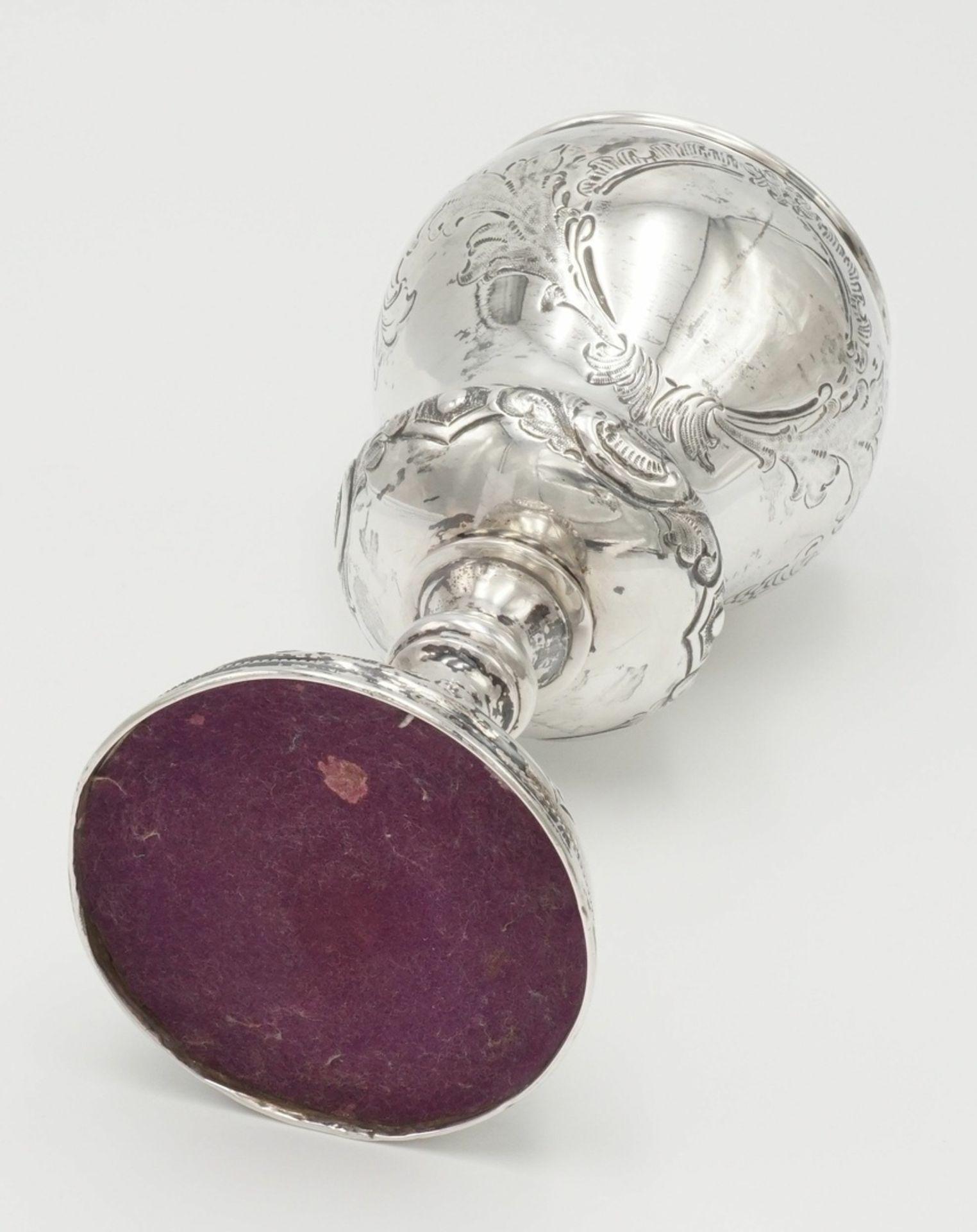 Reich verzierter Silberpokal - Bild 3 aus 4