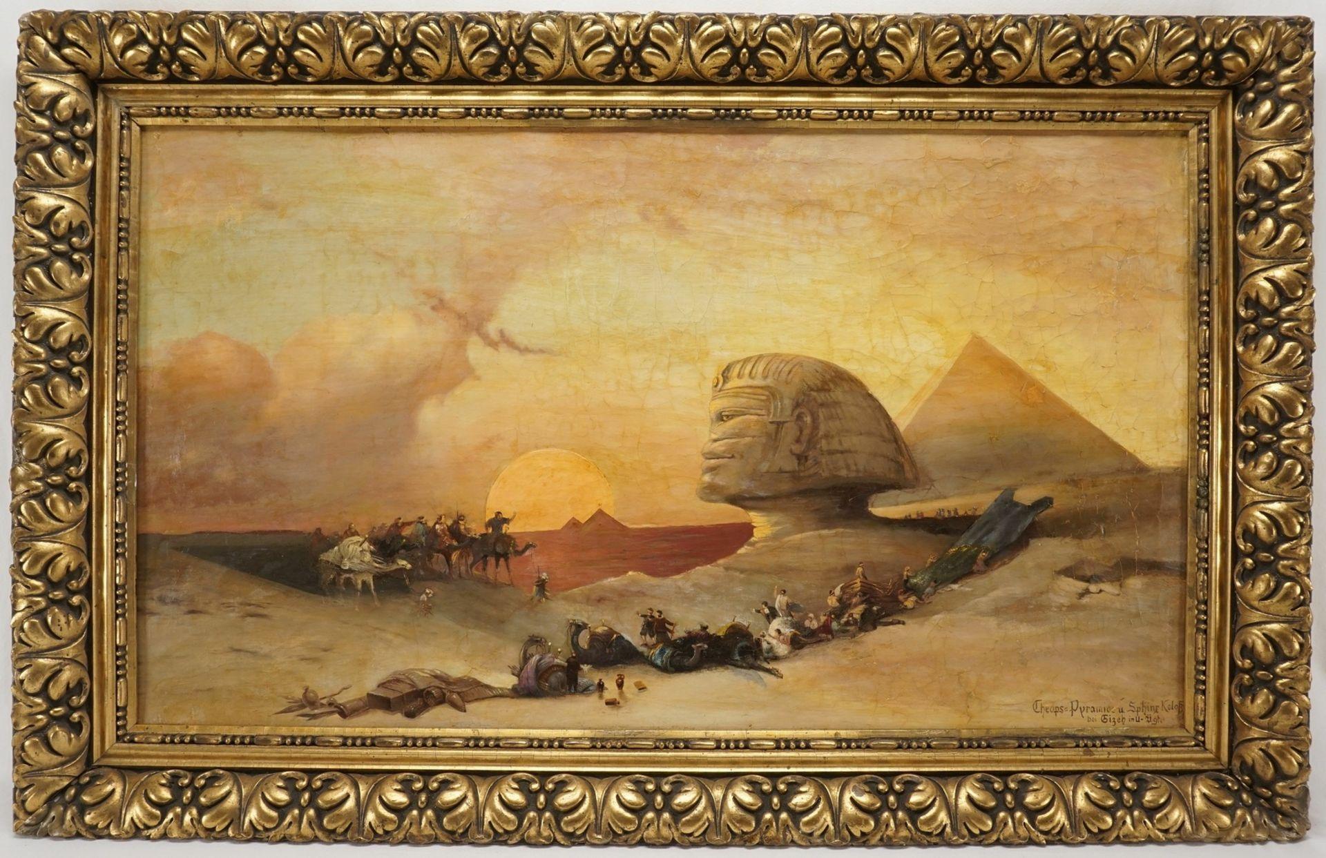 "David Roberts, ""Cheops-Pyramide und Sphinx-Koloss bei Gizeh in U.-Äg[yp]t[en]"""