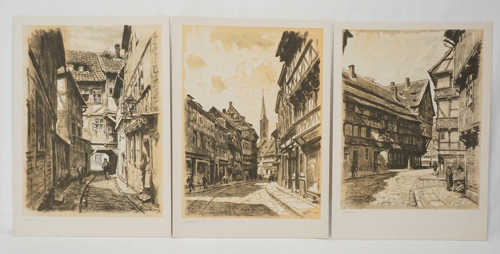Kunstdruckmappe und Postkarten, Halberstadt am Harz - Bild 4 aus 7