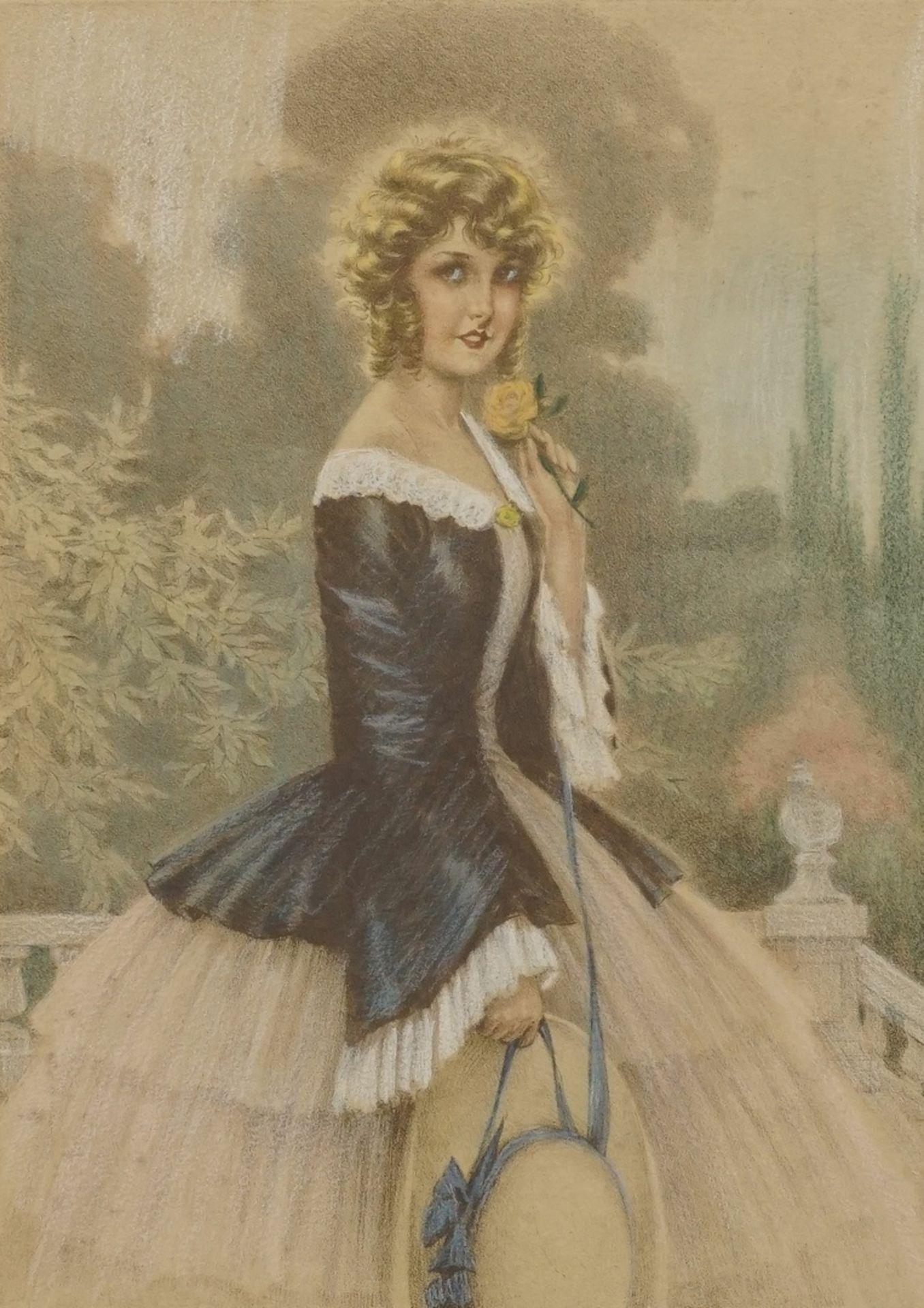 Maurice Millière, Junge Dame mit Strohhut