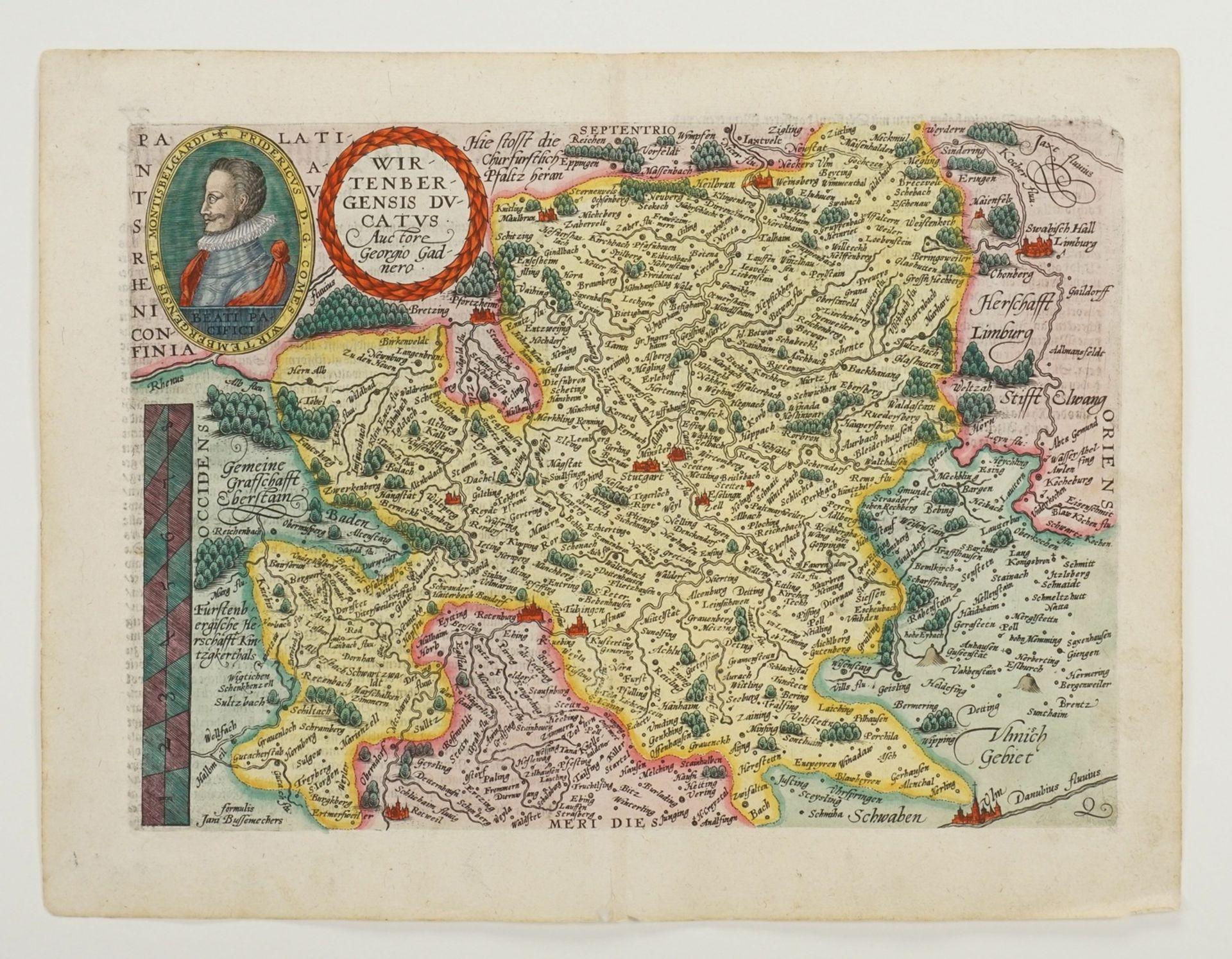"Mat(t)hias Quad, ""Wirtenbergensis Ducatus"" (Landkarte des Herzogtums Württemberg) - Bild 3 aus 4"