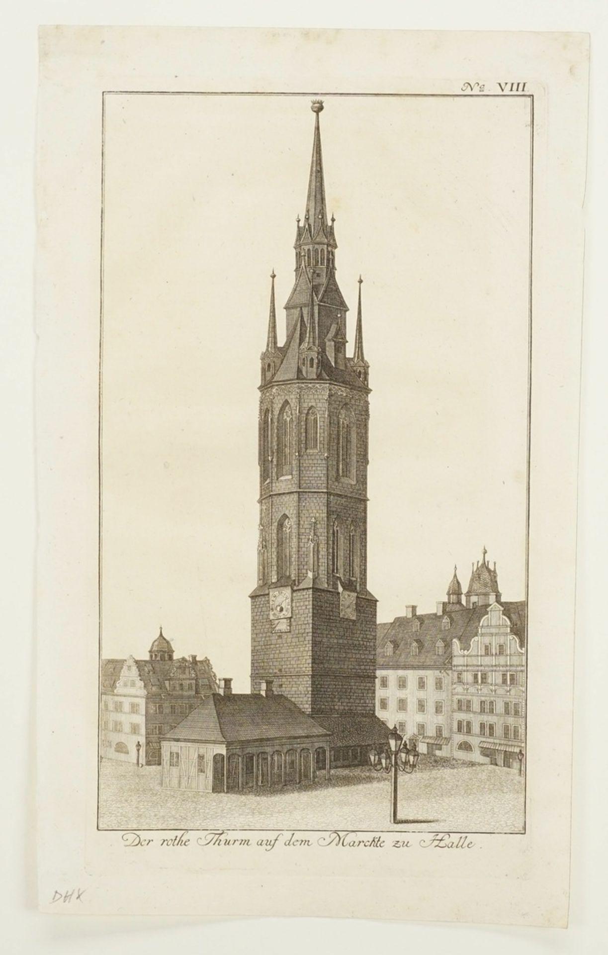 Johann Gottfried Krügner der Jüngere, Drei herausragende Bauwerke der Stadt Halle/Saale - Bild 3 aus 4