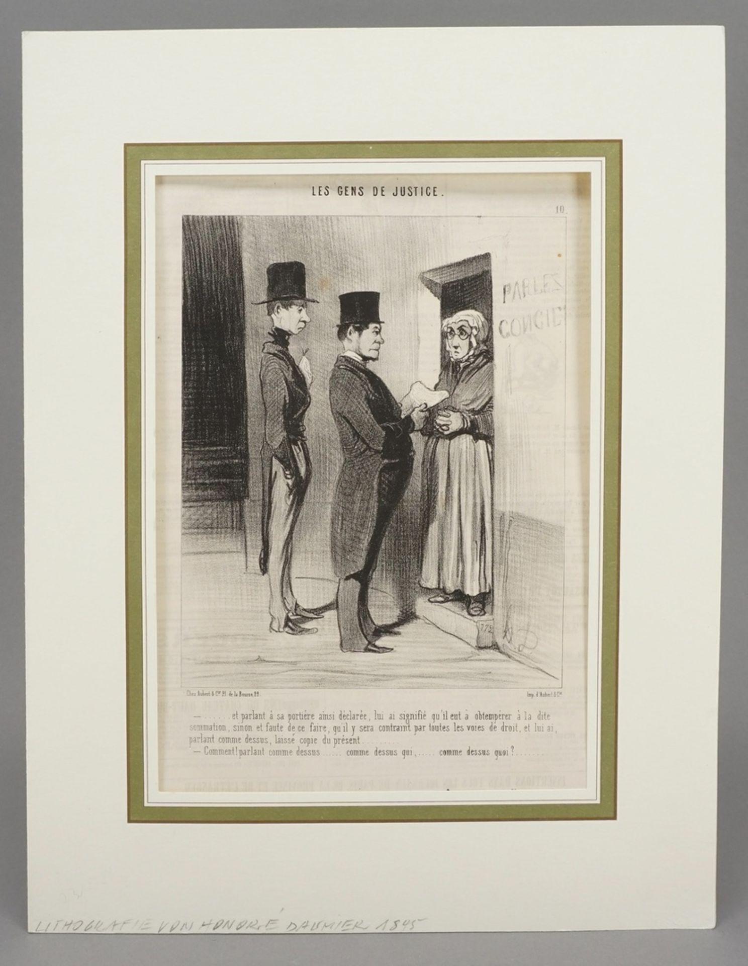 """Honoré Daumier, """"Les Gens de Justice"""" (Die Juristen), Tafel 10 - Bild 2 aus 4"""