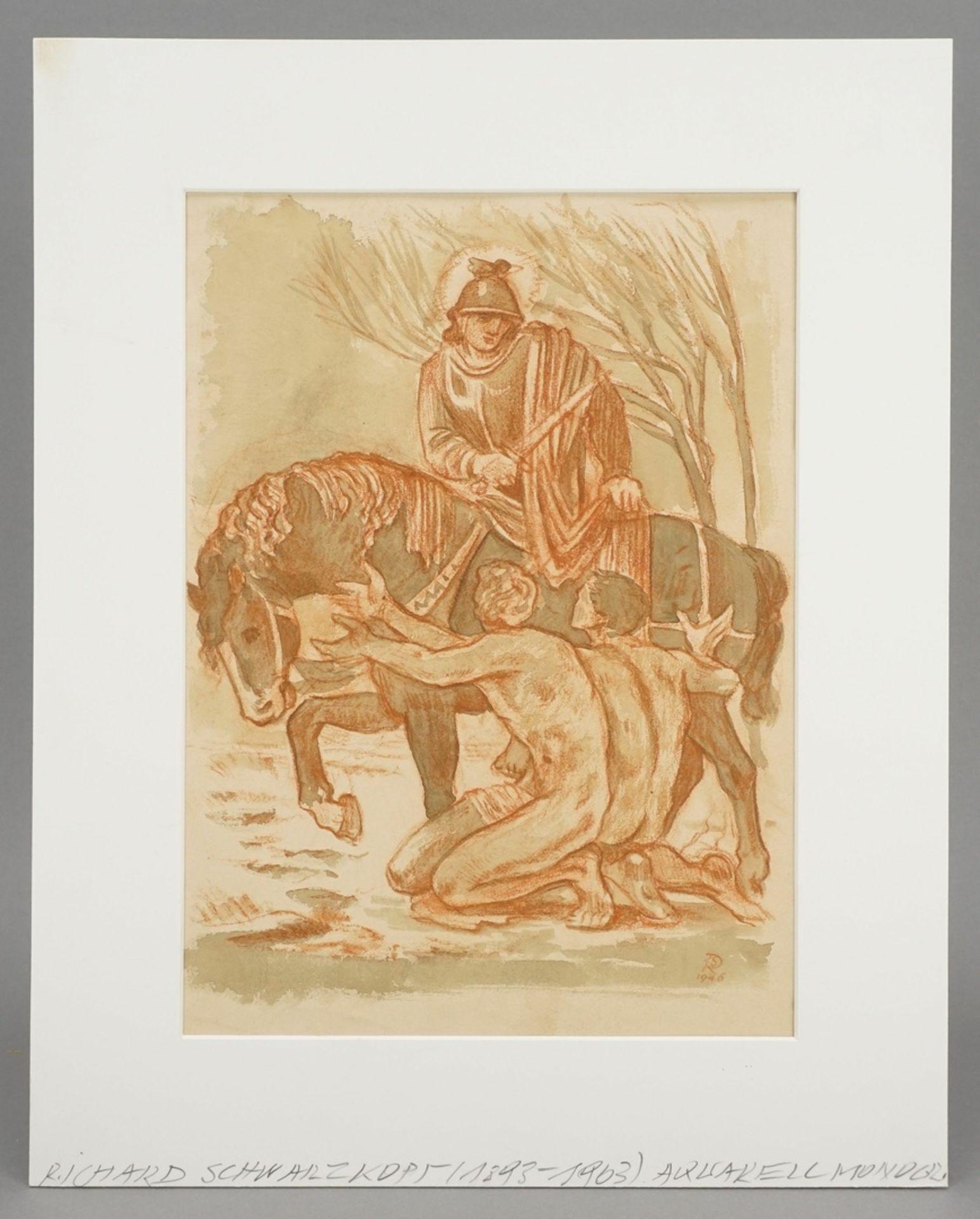 Richard Schwarzkopf, Der Heilige Martin zu Pferde - Bild 2 aus 5