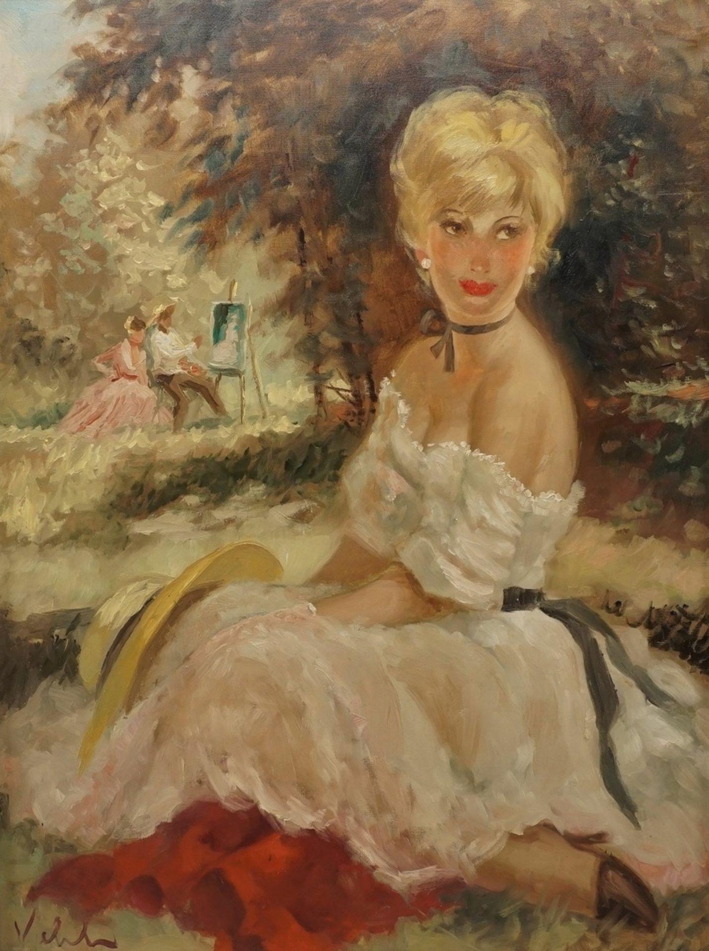 Viehl ( ), Maler und Modell (Hommage à Renoir)