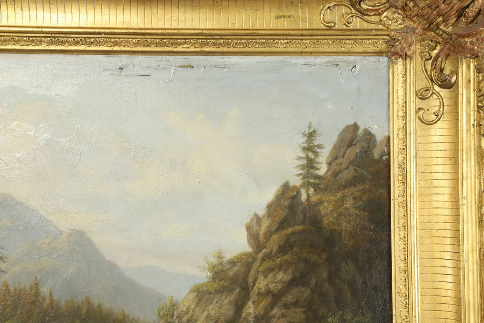 Carl Schulz, Wassermühle im Gebirgstal - Bild 4 aus 6
