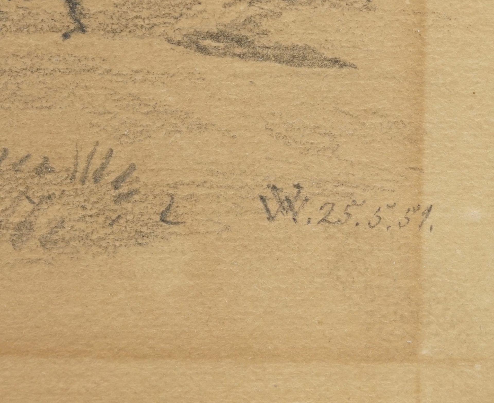 """Monogrammist V.W., """"Südlicher Jäger mit Hund und Gewehr"""" - Bild 4 aus 4"""
