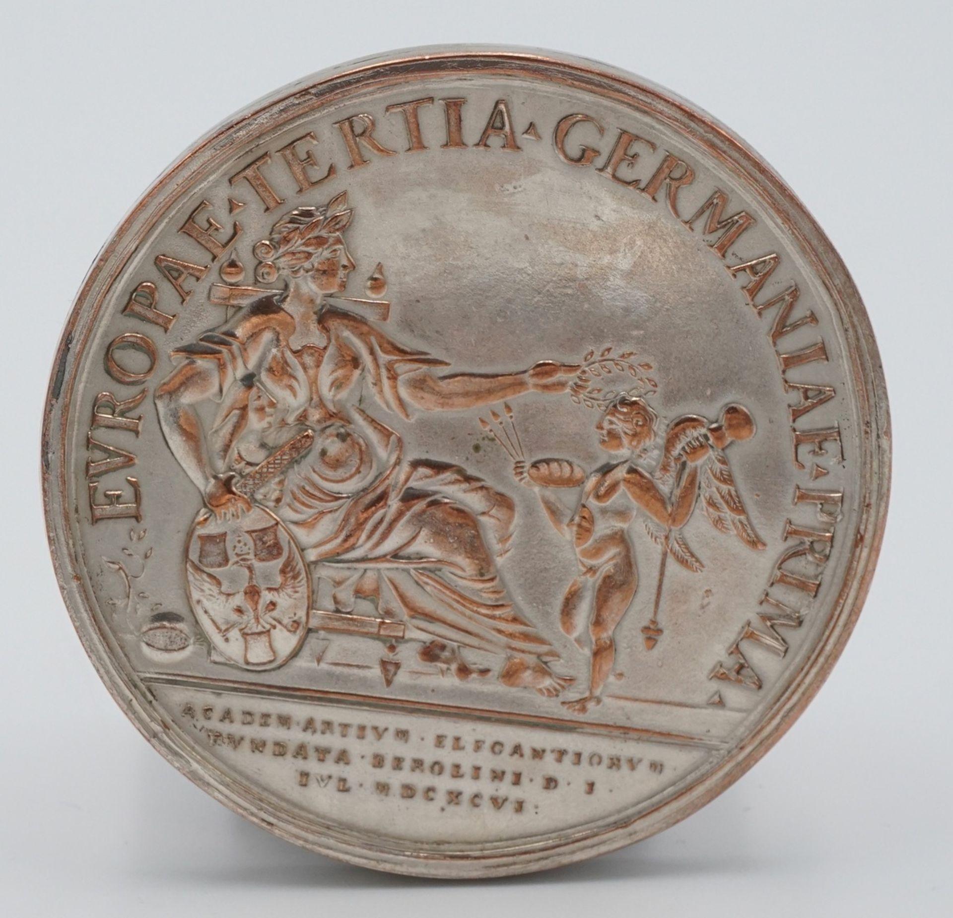 Replik einer Silbermedaille Friedrich Marl, 1701 - Bild 3 aus 3