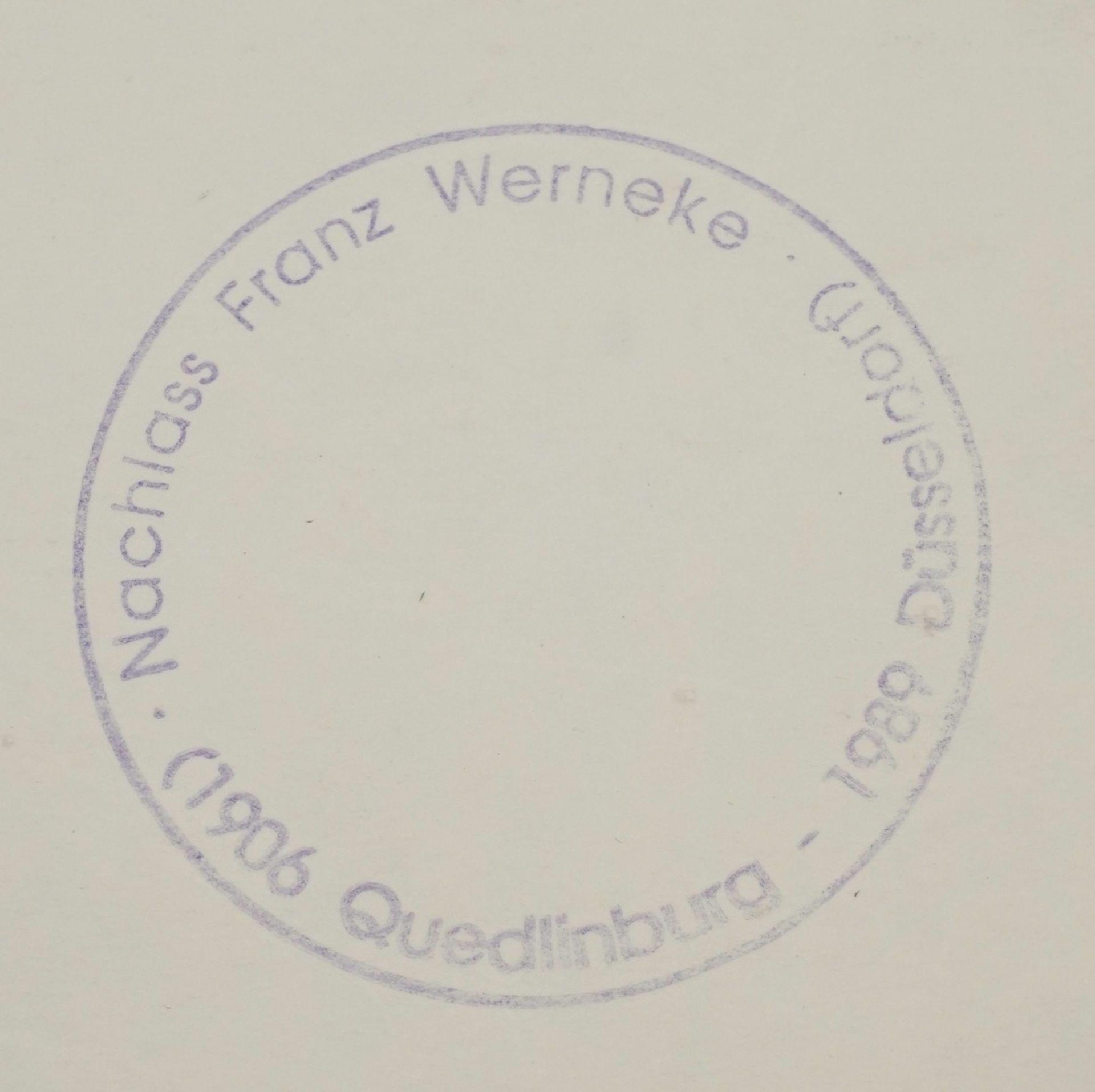 Franz Werneke, Gartenblick mit rosa Haus - Bild 4 aus 4