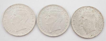 Drei rumänische 500-Lei-Münzen