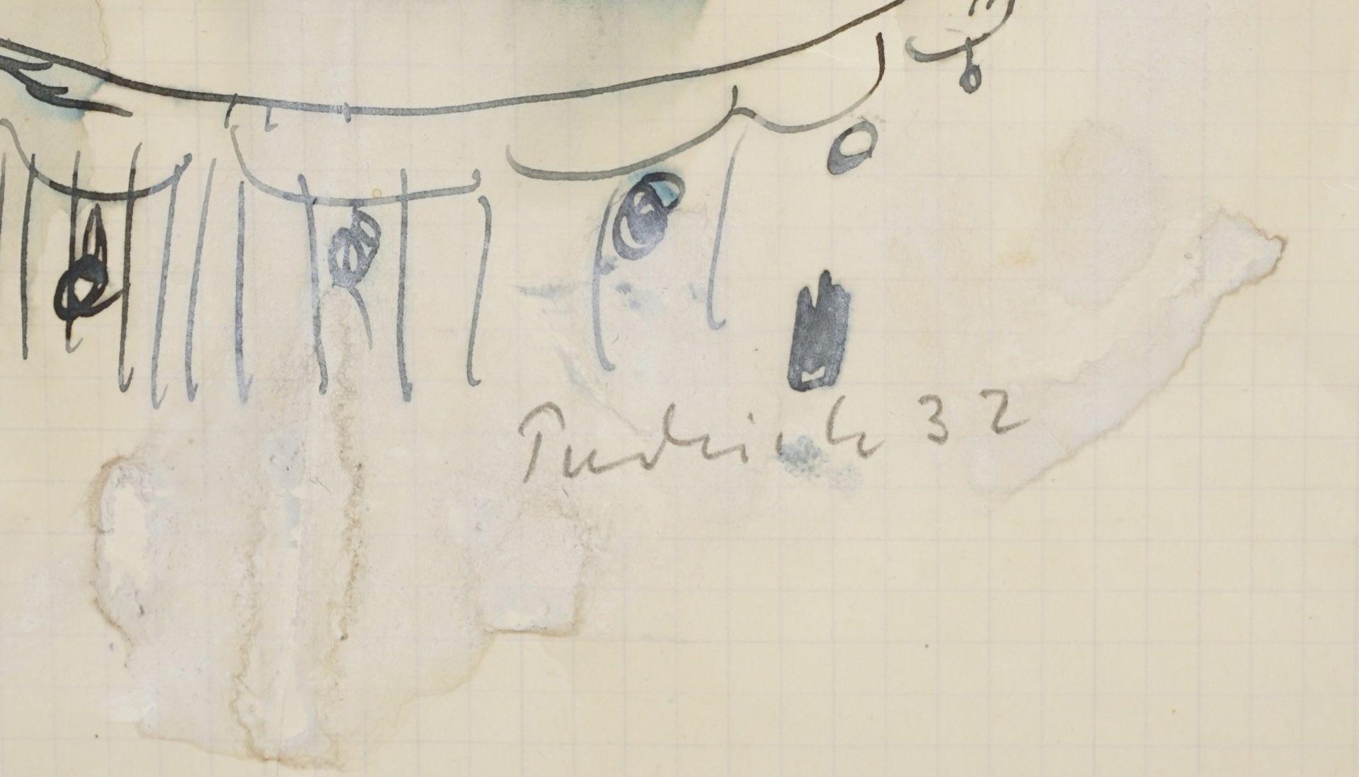 Robert Pudlich, Kauernder Frauenakt auf einem Fauteuil - Bild 4 aus 4