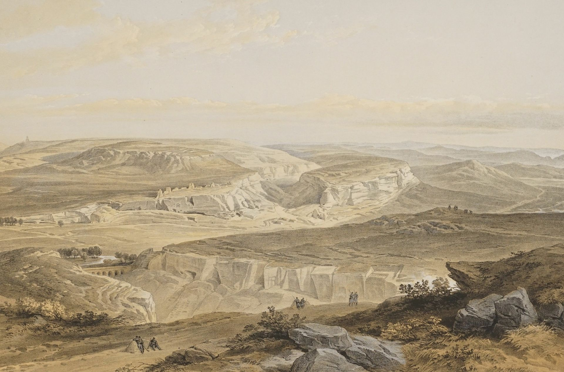 "William Simpson, ""The Ruins of Inkermann and City of Caverns"" (Die Ruinen der Stadt Inkerman ..."