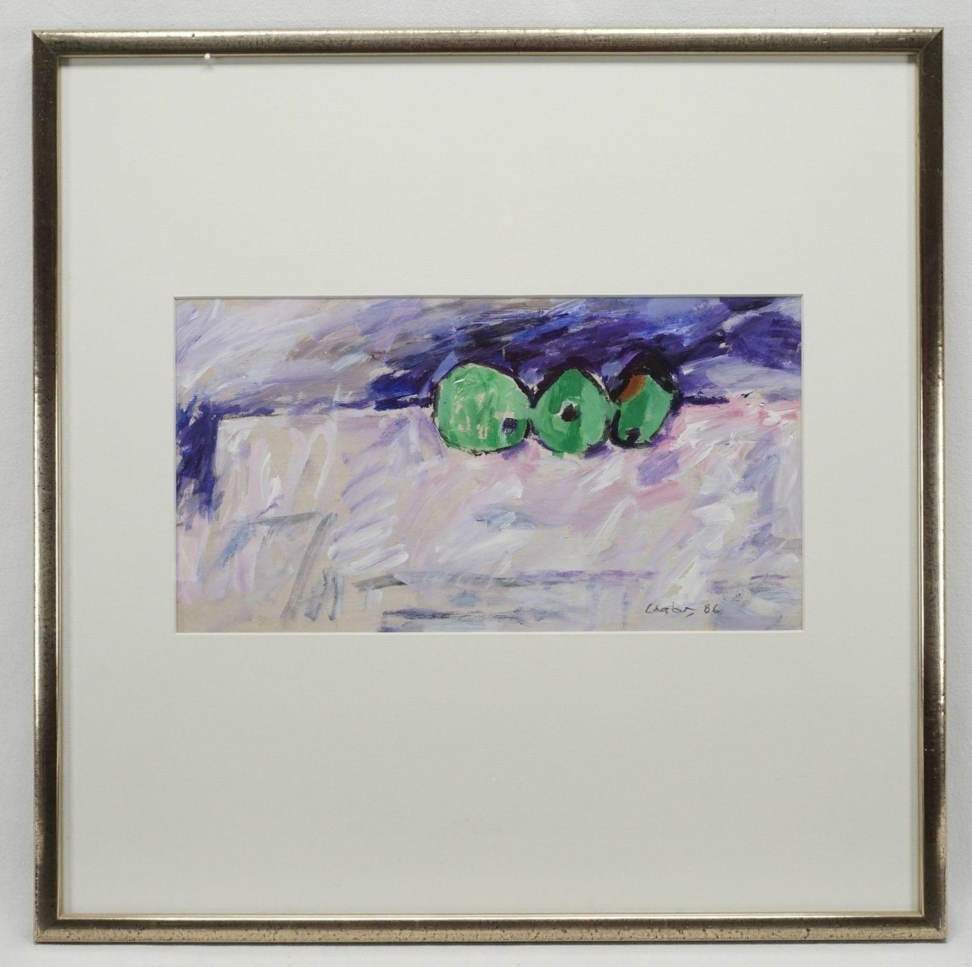 Hans Laabs, Drei grüne Äpfel - Bild 2 aus 3