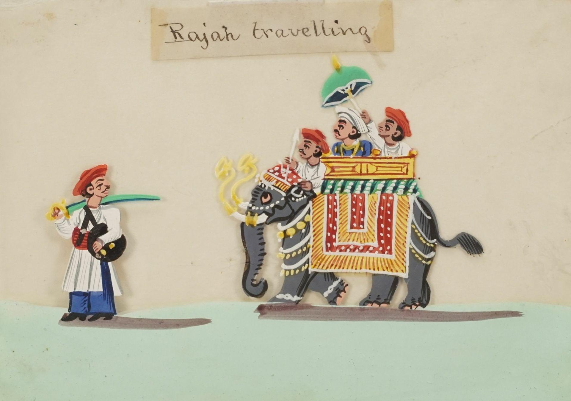 """Indischer Künstler, """"Rajah travelling (Der Maharadscha auf Reisen)"""""""