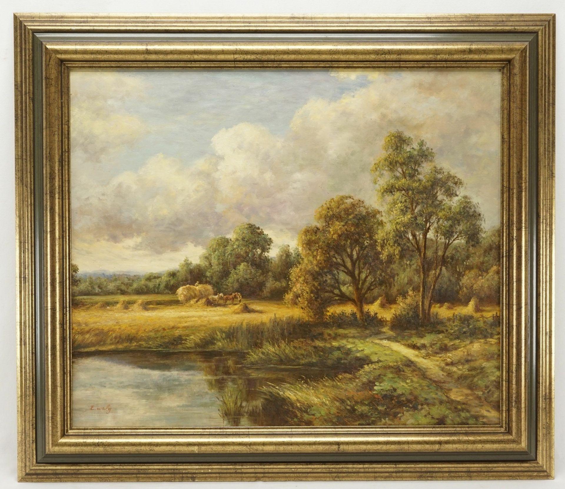 E. Waly, Heuernte am See - Bild 2 aus 4