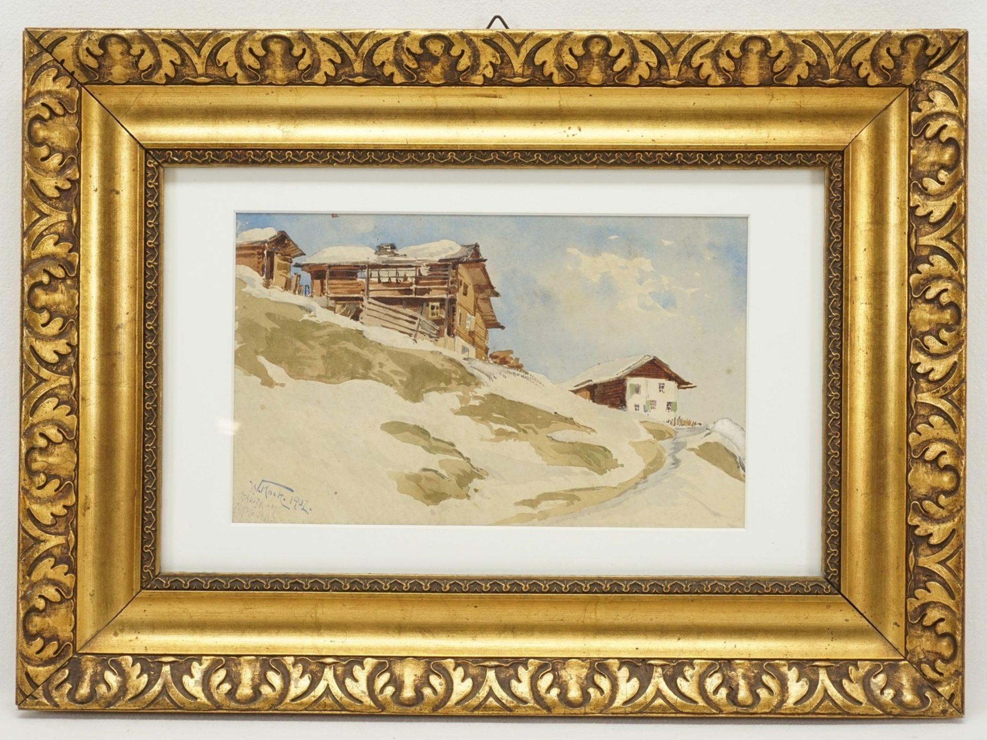 """Walter Koch, """"Häuser am Gemsjäger"""""""