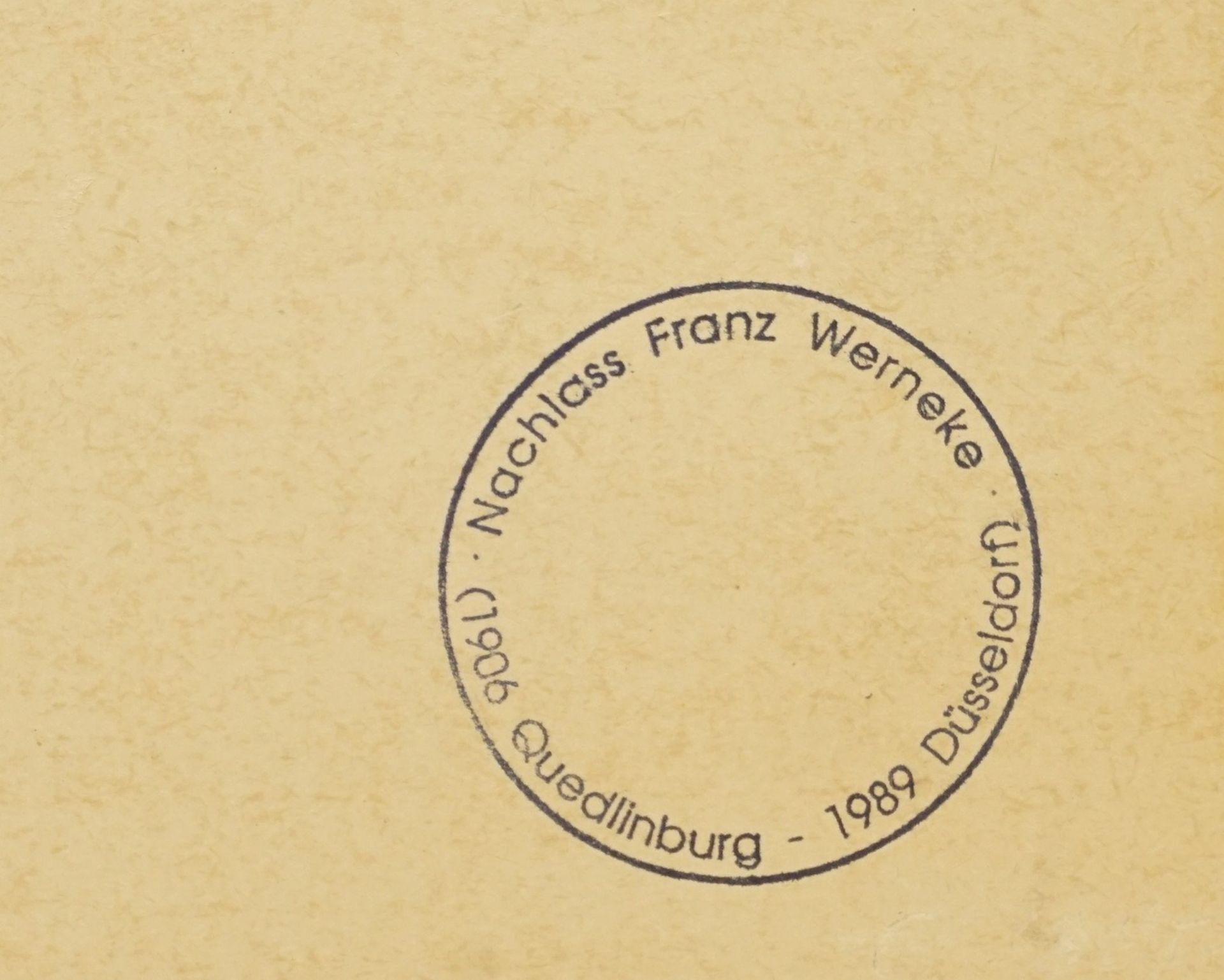 Franz Werneke, Wohnzimmerstillleben mit Glasvase - Bild 3 aus 3