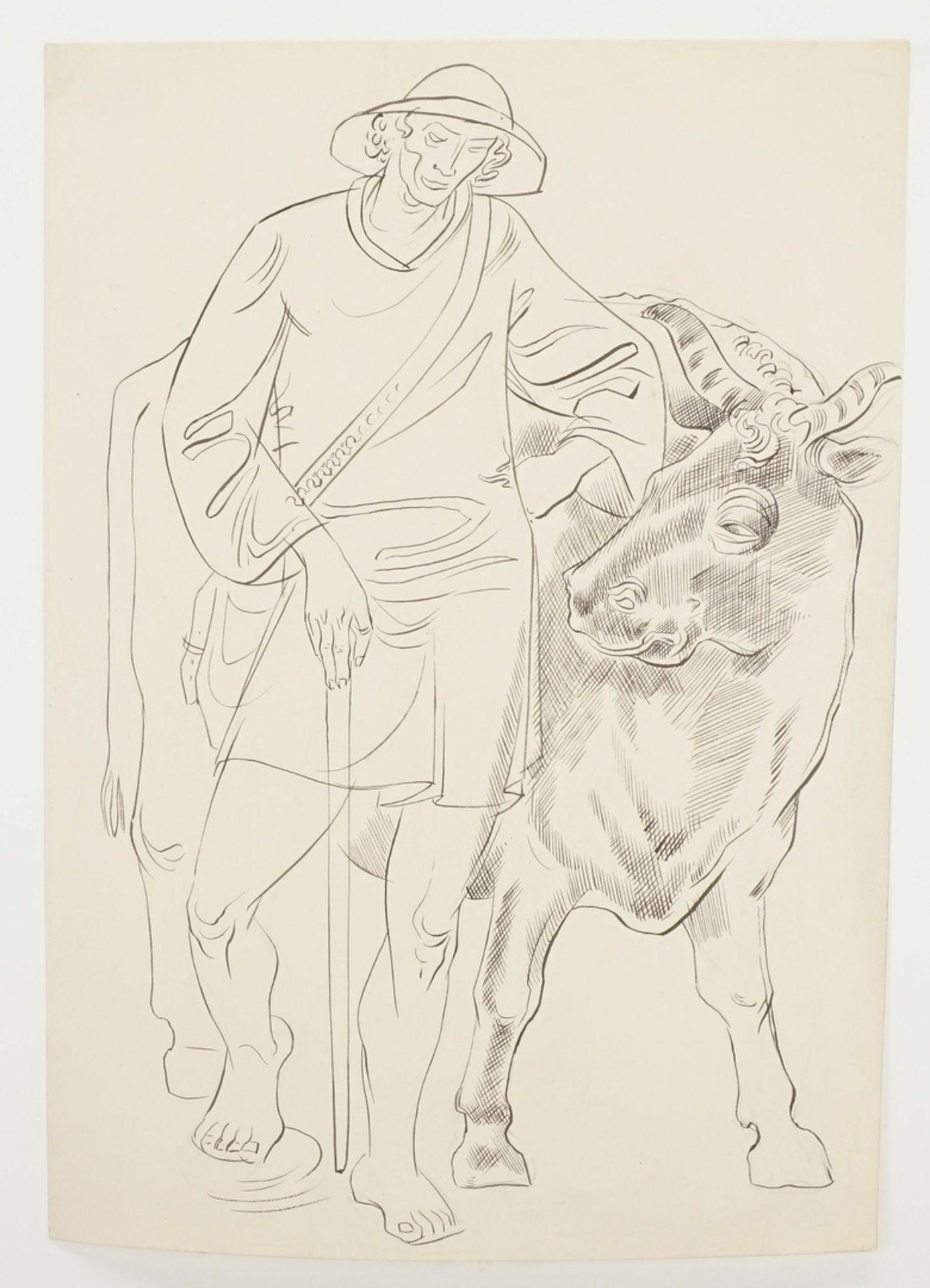 Richard Schwarzkopf, Kuh-Hirte - Bild 3 aus 4