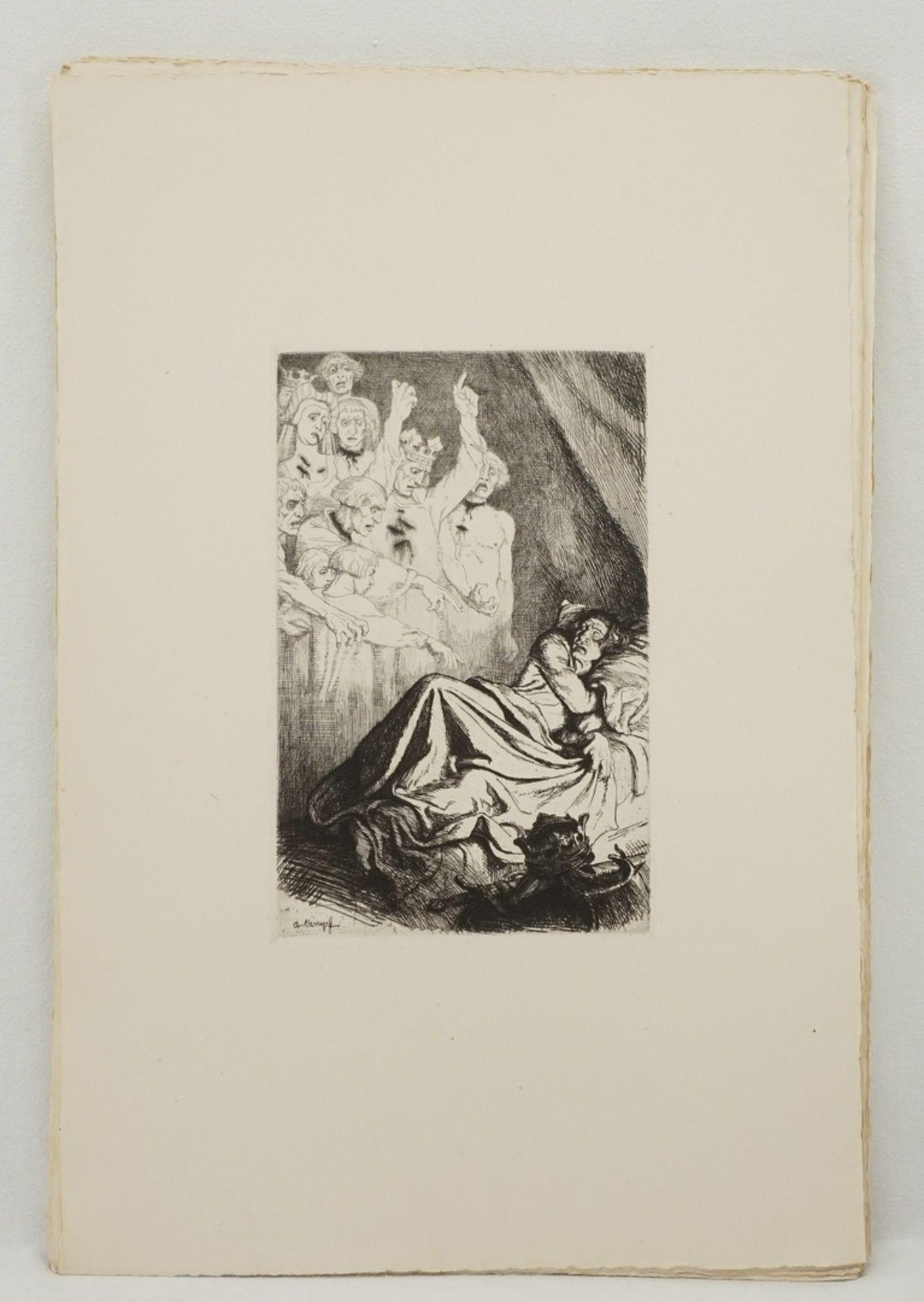"""Arthur Kampf, """"Zwanzig Radierungen zu Shakespeares Werken"""" (Mappe) - Bild 8 aus 8"""
