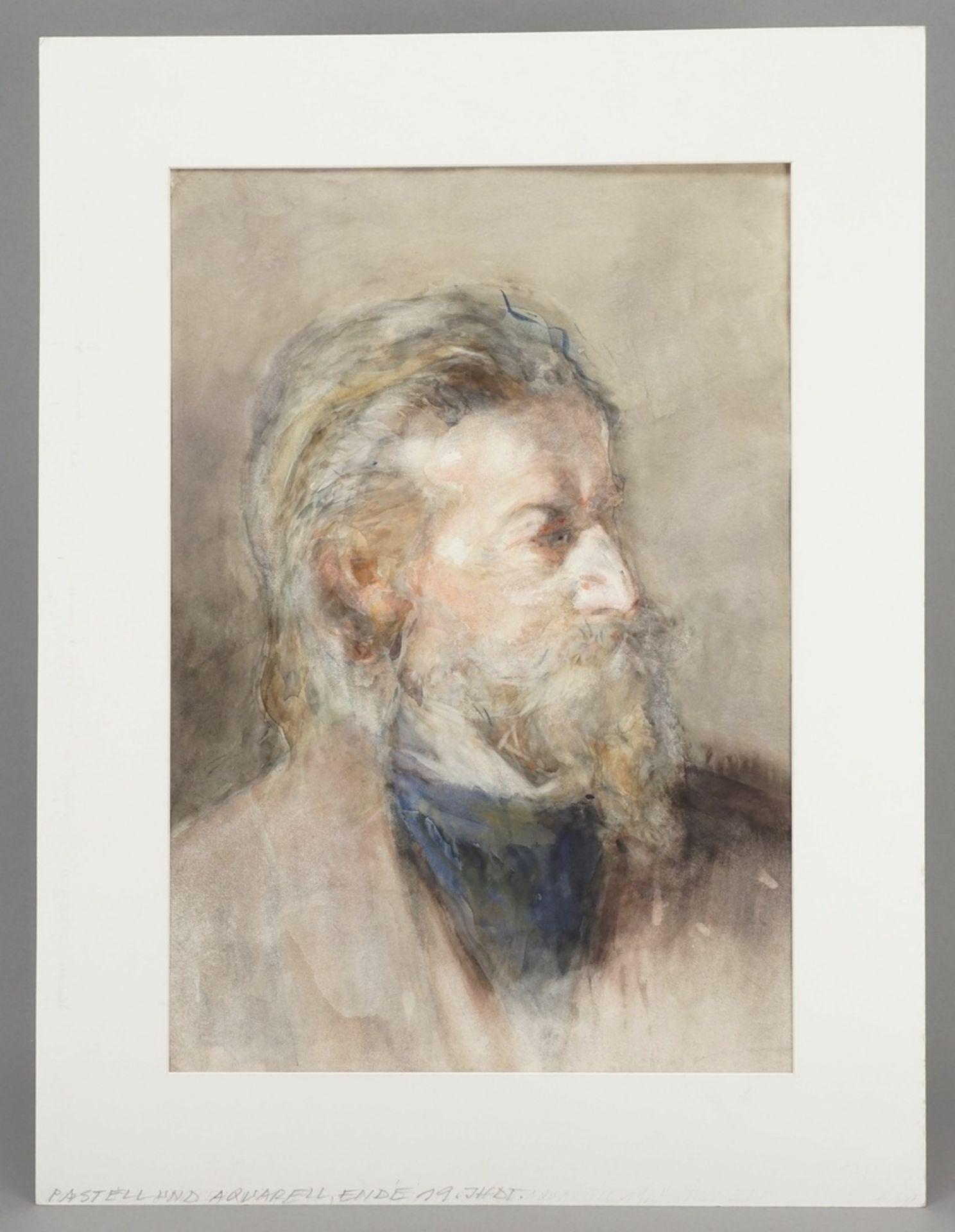 """Unbekannter Portraitist, """"Bildnis eines Herrn mit Spitzbart nach rechts"""" - Bild 2 aus 3"""