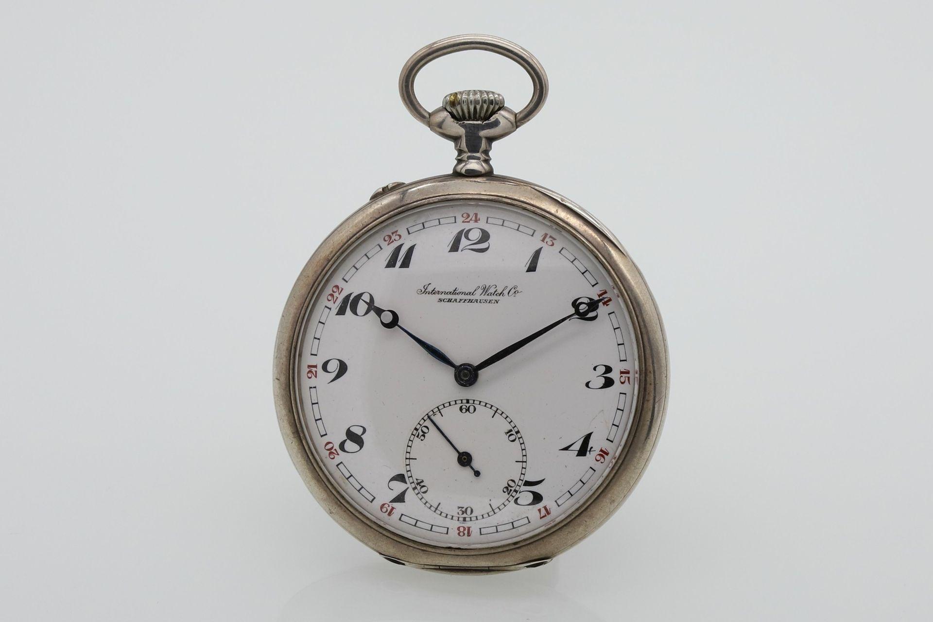 IWC Schaffhausen silberne Taschenuhr, um 1910