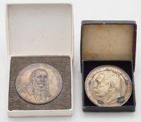 Zwei Gedenkmedaillen von 1928, Silber