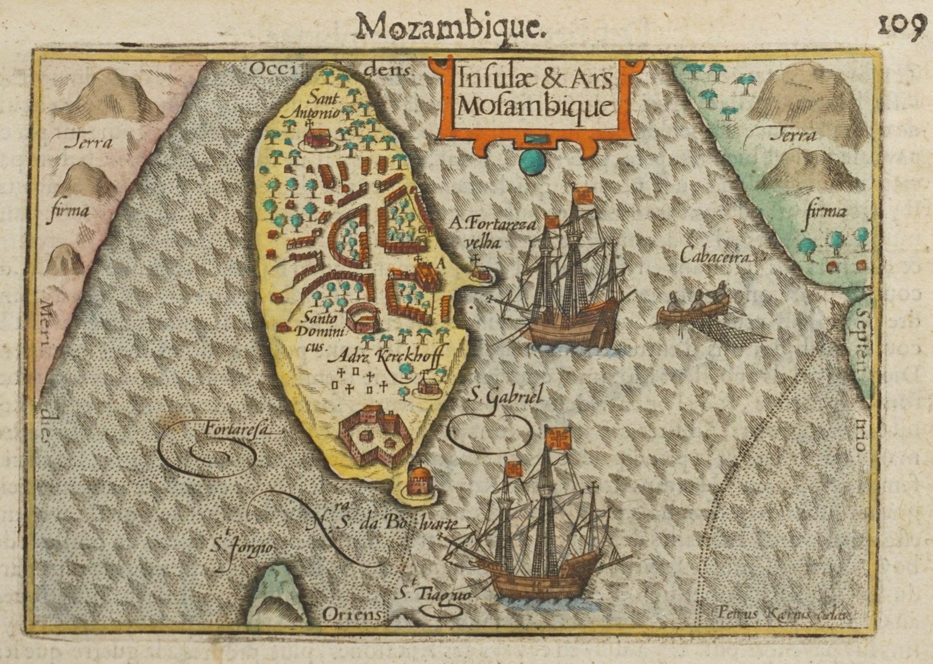 """Pieter van den Keere, """"Mozambique. Insulae & Ars Mosambique"""" (Landkarte von Mosambik)"""