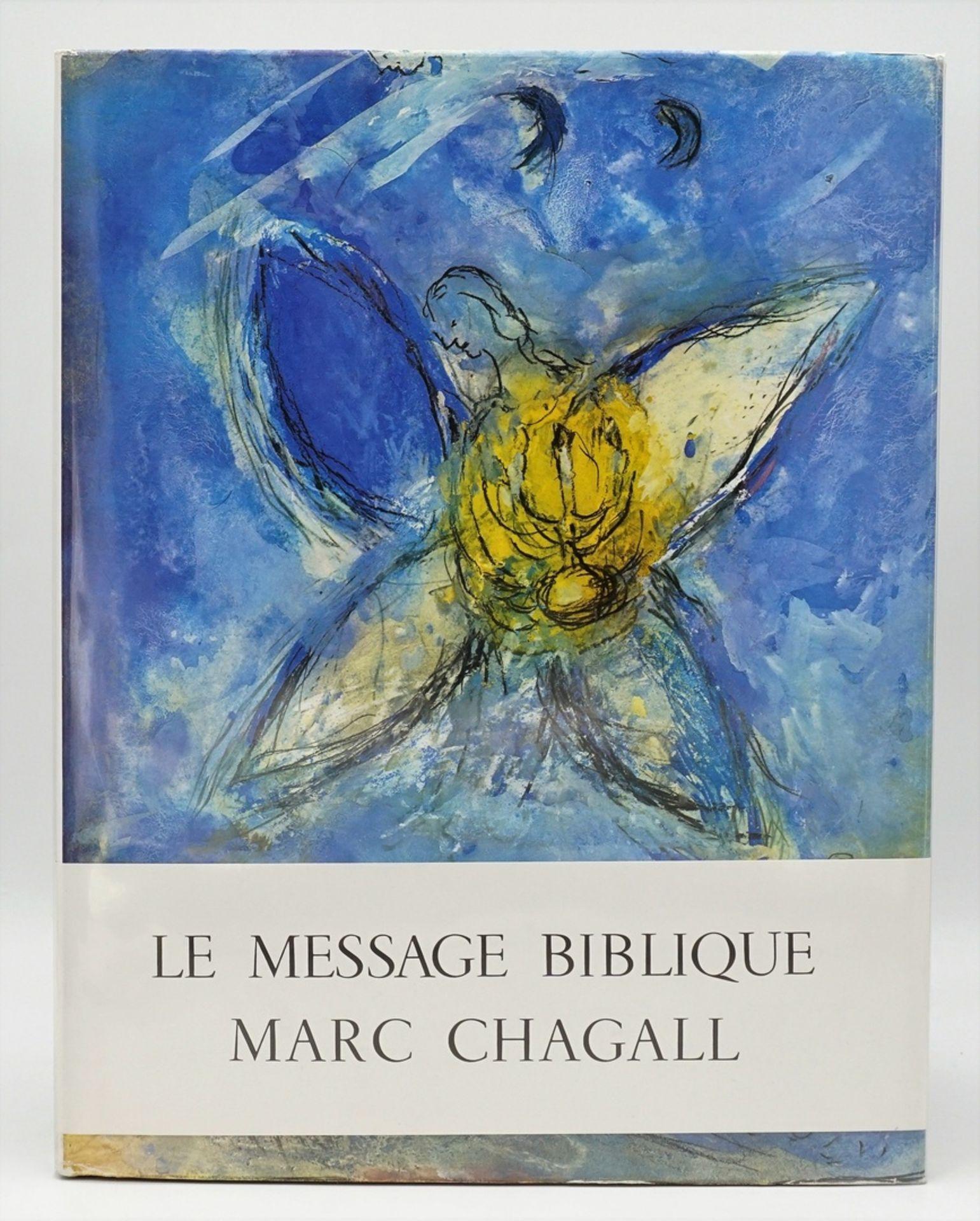 """Marc Chagall, """"Le Message Biblique"""", mit einer Originallithografie"""