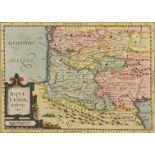 """Gerhard Mercator, """"Aquitaniae descriptio"""" (Landkarte von Aquitanien, Südfrankreich)"""