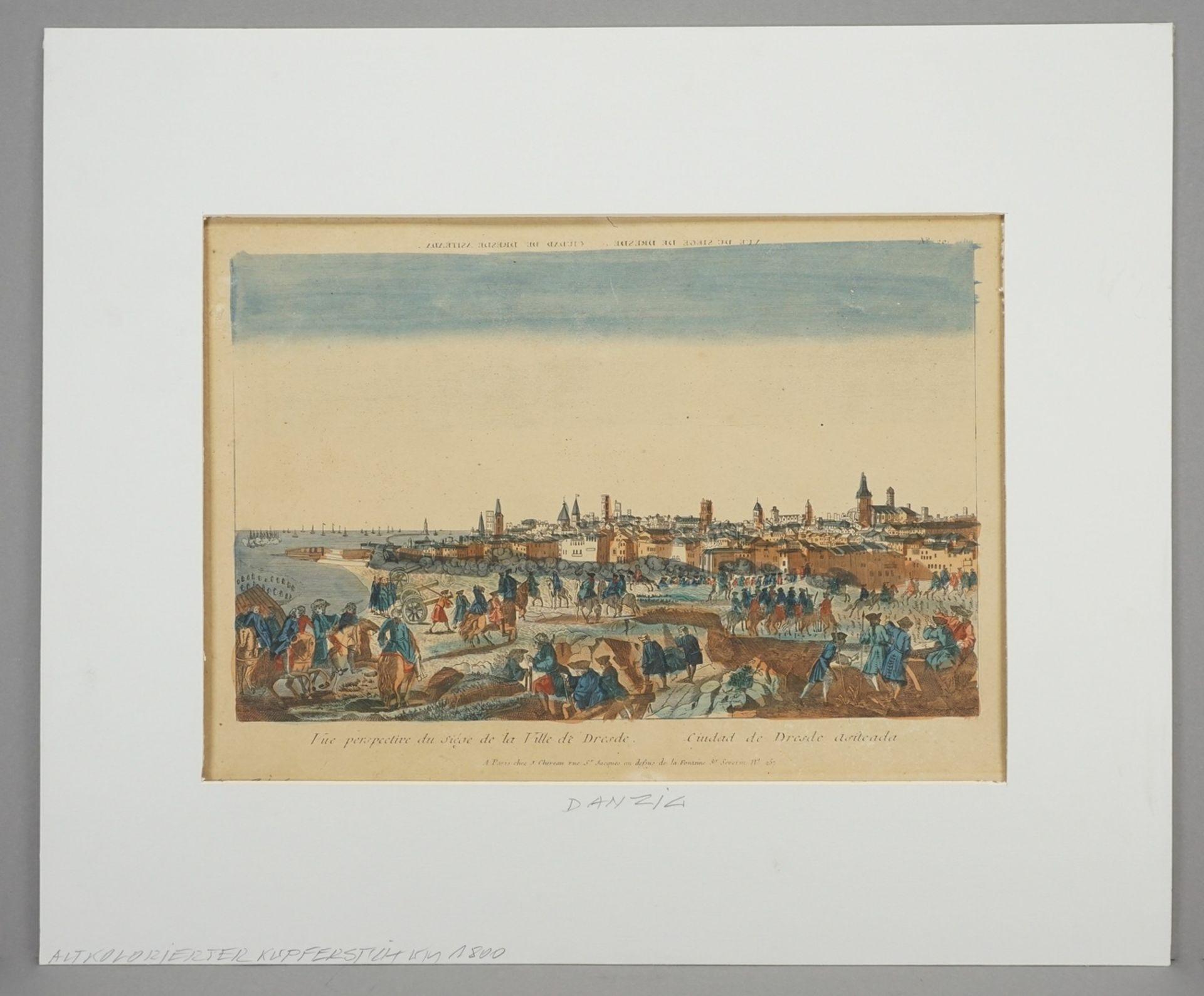 """Guckkasten-Blatt """"Vue perspective du siège de la Ville de Dresde"""" - Bild 2 aus 3"""