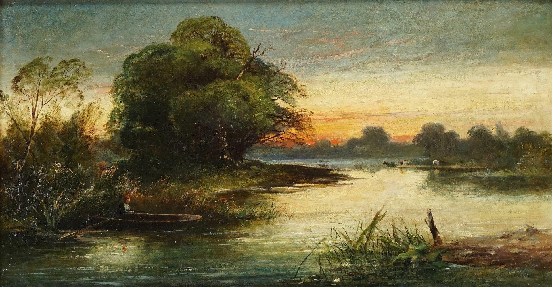 Charles-Francois Daubigny, Abenddämmerung über der Oise