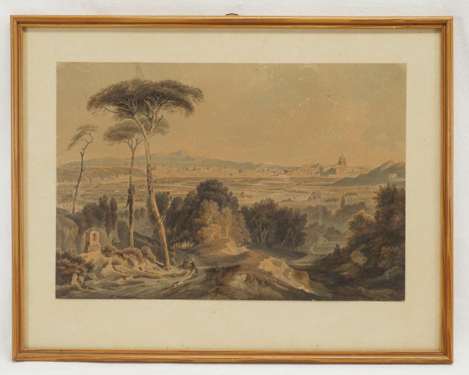 A. Müller, Zwei Lithografien - Bild 3 aus 3