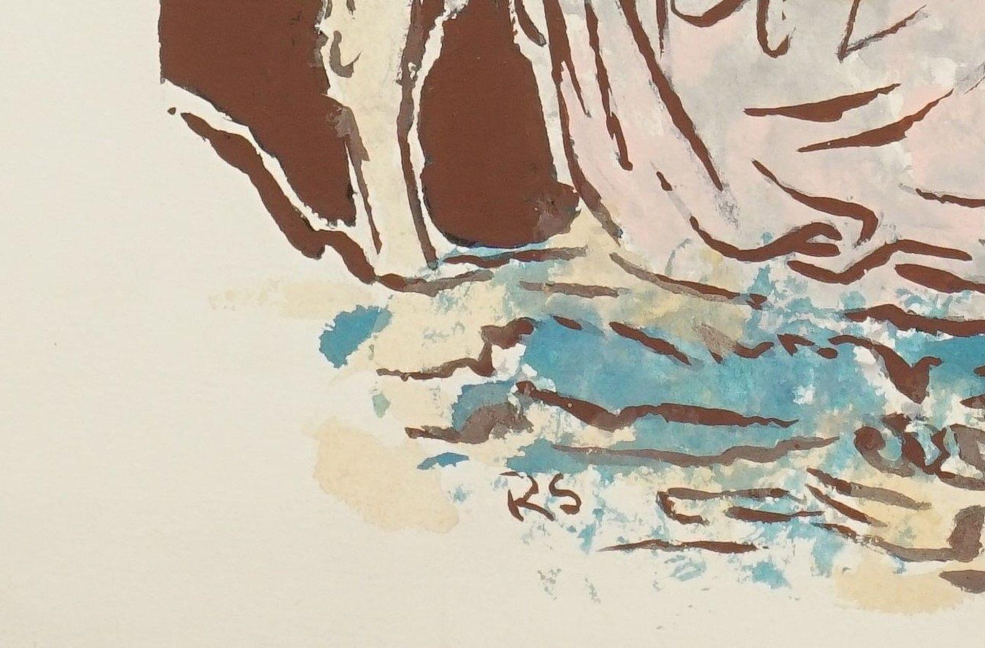 Richard Schwarzkopf, Zwei Hirten mit Schaf - Bild 4 aus 5