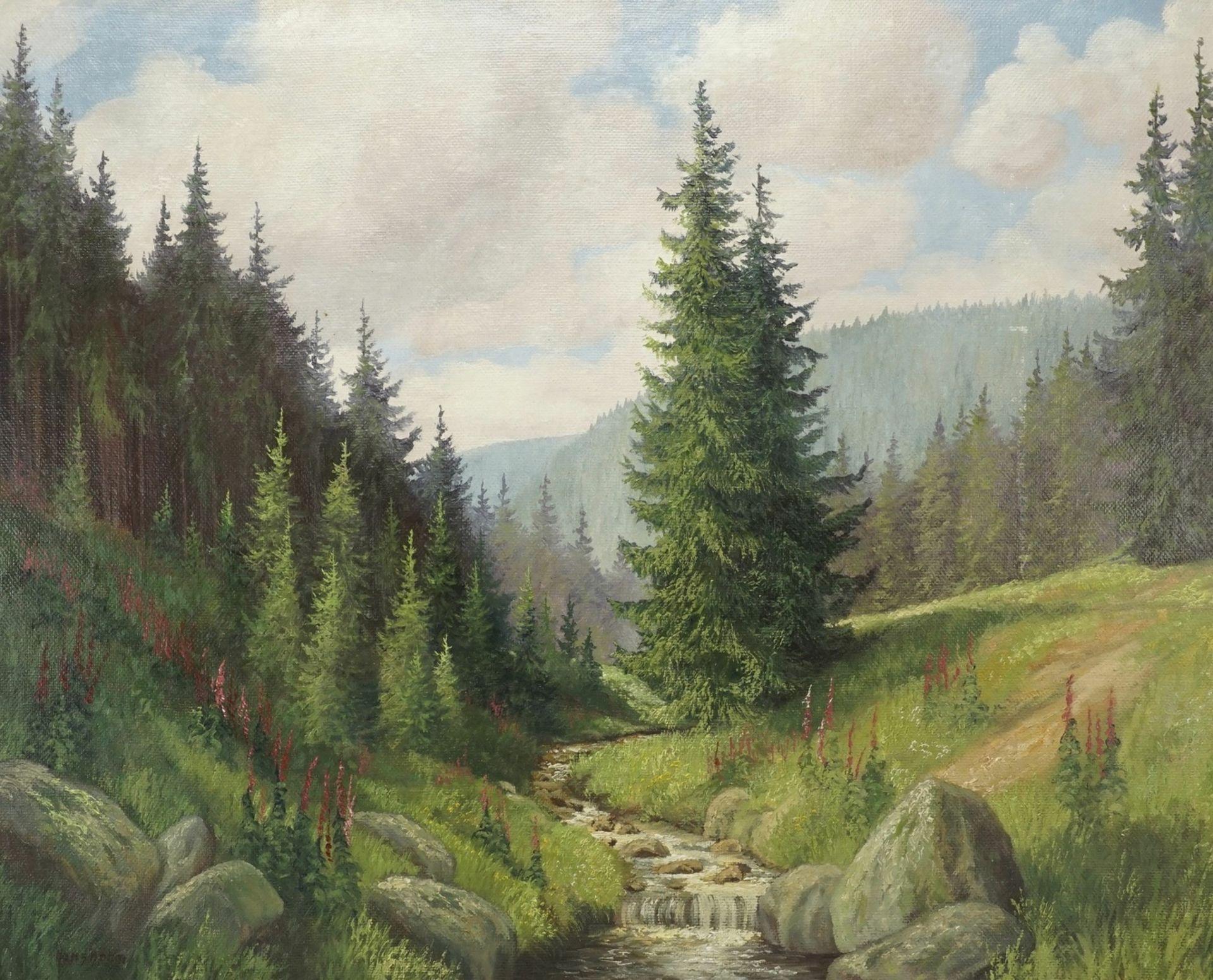 """Hans Böhm, """"Sommermorgen im Harz (Im Thumkuhlental bei Wernigerode)"""""""