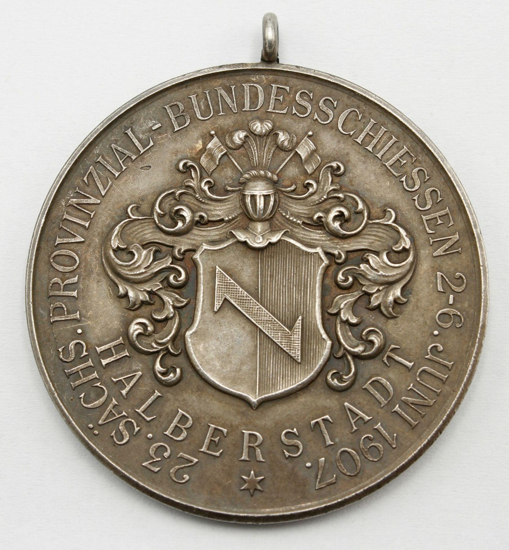 Medaille Halberstadt, 23. Sächs. Provinzial-Bundesschiessen, 1907 - Bild 2 aus 2