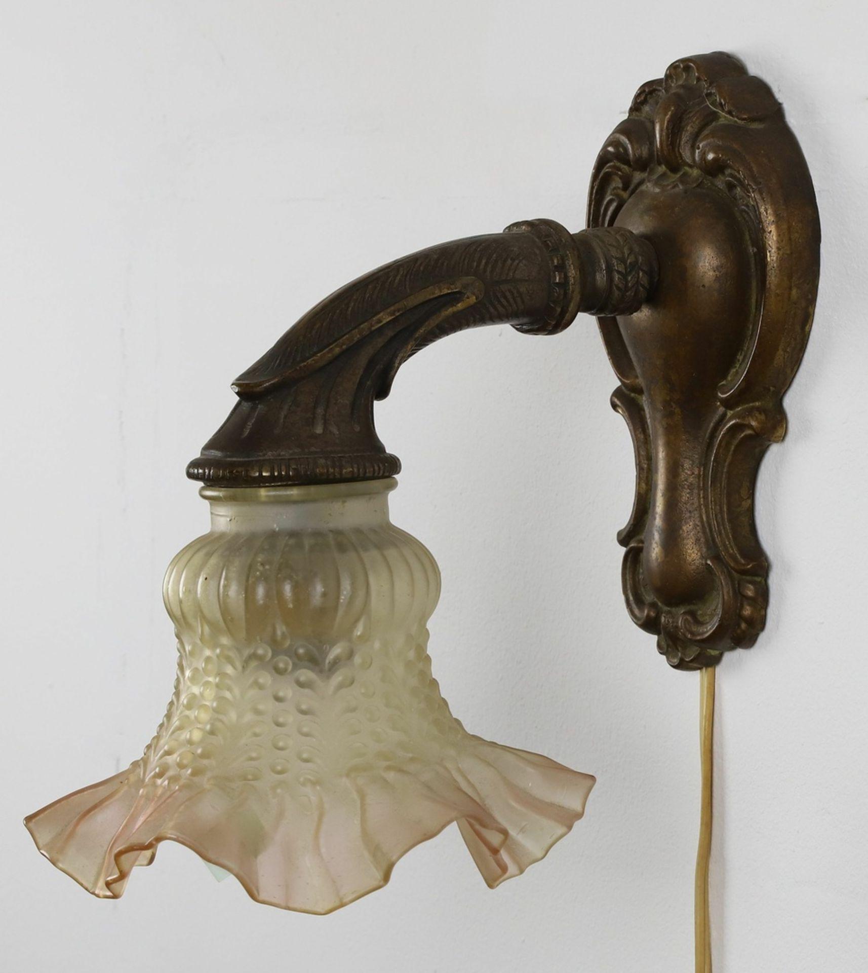 Einflammige Wandlampe, um 1920