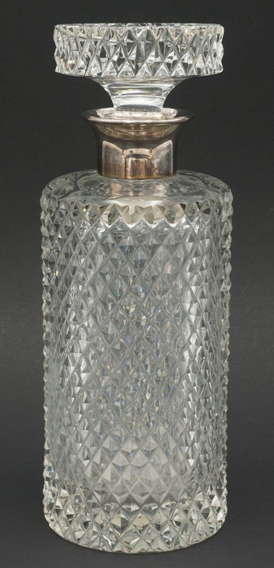 Whiskey-Karaffe mit Silber-Ausguss, 2. Hälfte 20. Jh. - Bild 2 aus 5
