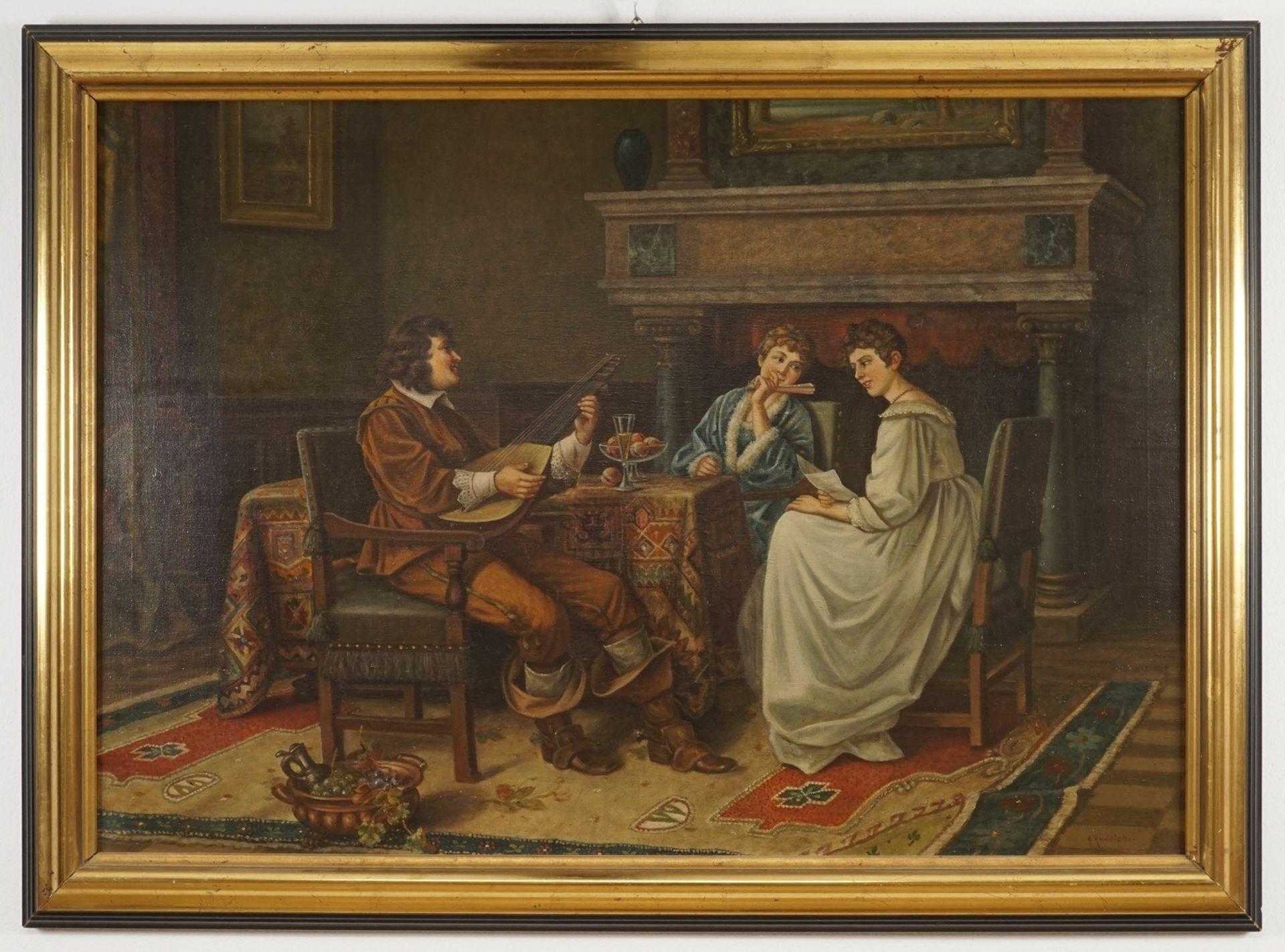 """A. Rudolphi, """"Musizierende"""" - Bild 2 aus 4"""