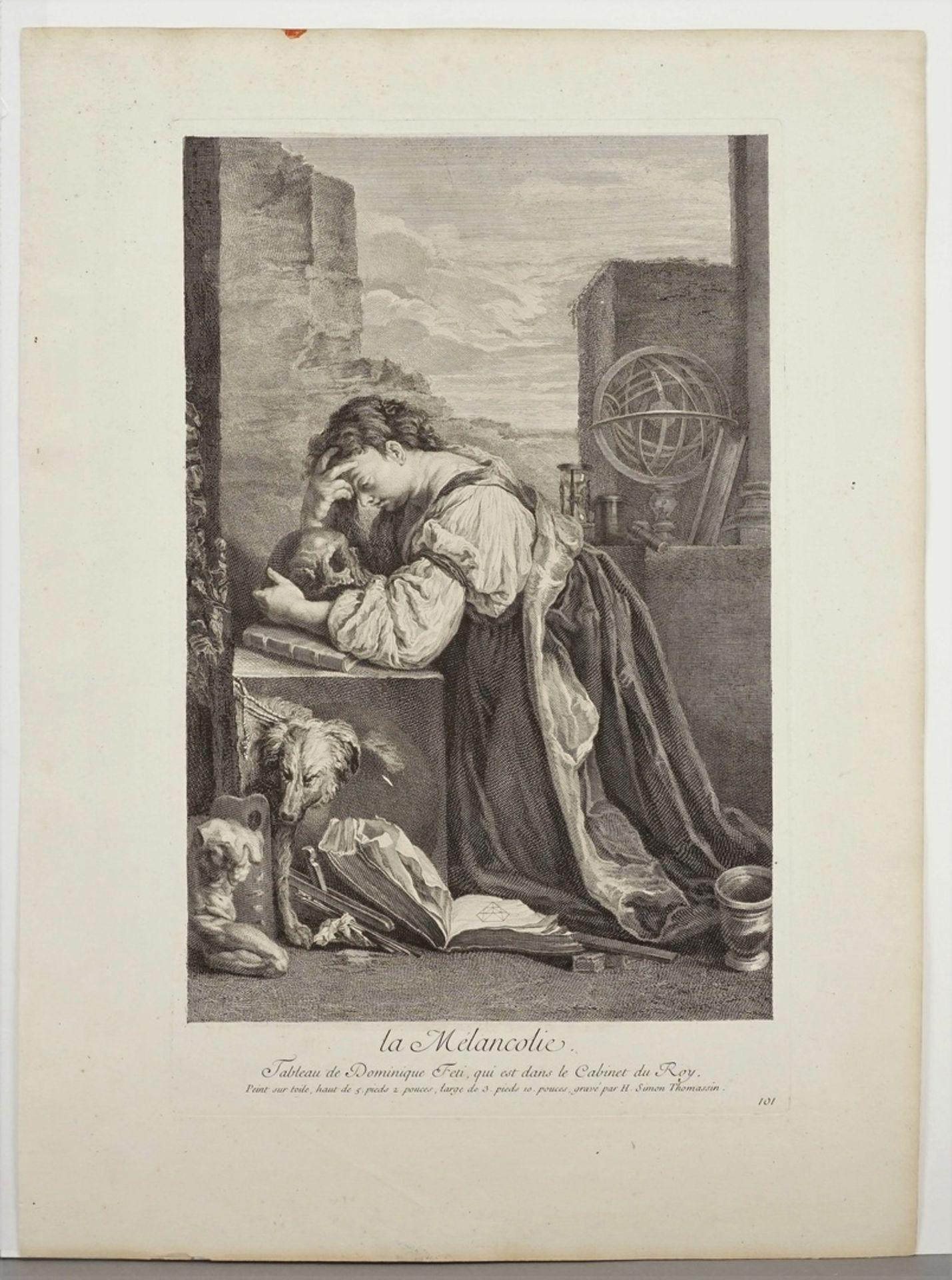 """Henri Simon Thomassin, """"la Mélancolie (Die Melancholie)"""" - Bild 3 aus 3"""