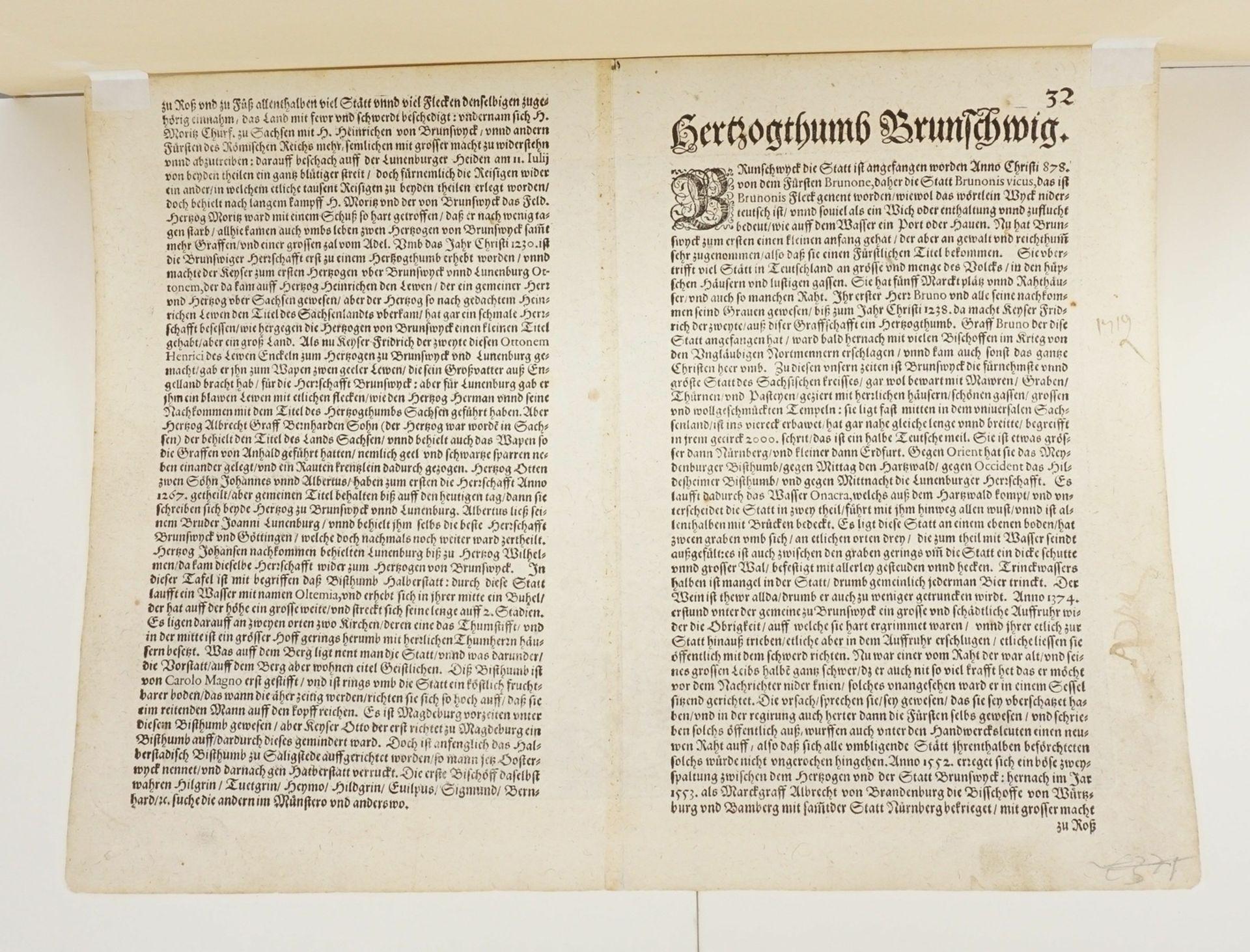 """Mat(t)hias Quad, """"Braunswick Ducatus. Hildeheim Episop: & Halberstat Episcop:"""" (Landkarte des ... - Bild 4 aus 4"""