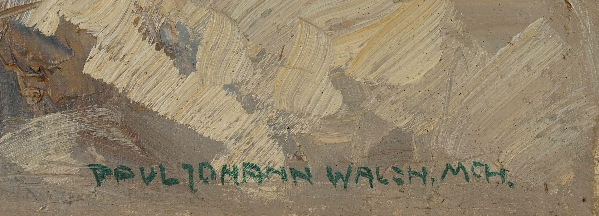 """Paul Johann Walch, """"Birken in Voralpenlandschaft"""" - Bild 4 aus 4"""